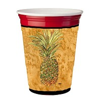 Pineapple  Red Solo Cup Beverage Insulator Hugger