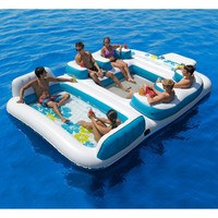 Tropical Tahiti Inflatable Floating Island 6-Person Capacity