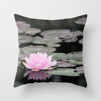 The Lily Pad Throw Pillow by Captive Images Photography   Society6