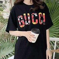 GUCCI x Disney Fashion Men Women Casual Print Short Sleeve T-Shirt Top
