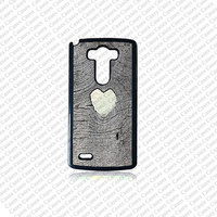LG G4 case, Lg G4 Phone case, heart on wood(Not a real wood) Lg G4 case, Cute Lg G4 case