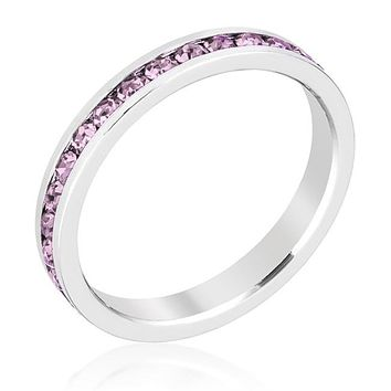 Gail Light Amethyst Purple Eternity Stackable Ring | 1ct