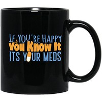 If You'Re Happy And You Know It-Personalized Doctor Gifts-Joke Black Mug