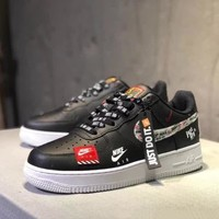 nike air force 1 x just do it unisex casual fashion letter shoelace plate shoes couple sneakers-1