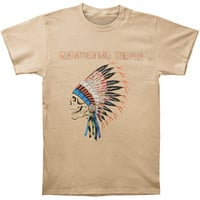 Grateful Dead Men's  Spring 1990 Over Dyed T-shirt Putty