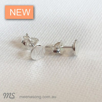 LETTER STUDS by Meena Song Jewellery