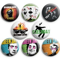 Green Day Pinback Buttons Badge #1 (Set of 8) 1.25 inches Punk Band ,New