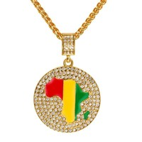 New Arrival Gift Shiny Stylish Jewelry Pendant World Map Accessory Big Size Necklace [10529028675]