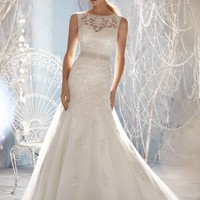 Mori Lee 1957 Fit and Flare Wedding Dress