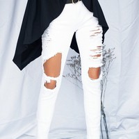 Wild Side Ripped Jeans (White)