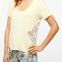 Lucca Couture Crochet Side Tee