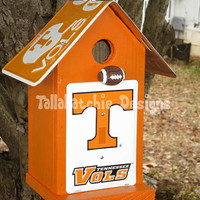 Tennessee Volunteers Birdhouse, Vols Birdhouse, Tennessee Birdhouse, Collegiate Birdhouse