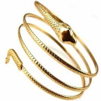 Snake Upper Arm Cuff - Silver or Gold