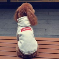 ONETOW Supreme Dog Pet Puppy Hoodie Thick Fleece Clothing Coat