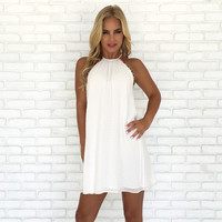 Array of Colors Shift Dress in White
