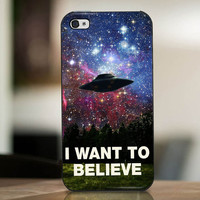 I Want To Believe Galaxy Nebula - cover case for iPhone 4|4S|5|5C|5S|6|6 Plus Note 2|3 Samsung Galaxy s3|s4|s5 Htc One M7|M8
