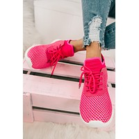 Walk On Over Knit Sneakers (Pink)