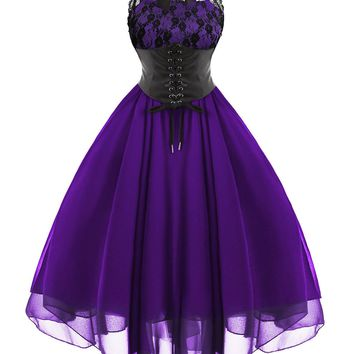 Atomic Purple Gothic Corset Dress
