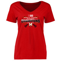 Maryland Terrapins Women's 2016 Big Ten Women's Lacrosse Tournament Champions T-Shirt - Red