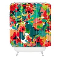 Rebecca Allen All For Flowers Shower Curtain