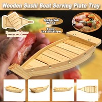 37x15.3x7cm Dumplings Sushi Ship Shape Serving Tray Plate Salad Bread Dishes Brief Dish Snack Tray Dried Fruit Tray