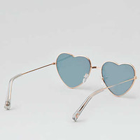 AEO Heart Aviator Sunglasses , Gold