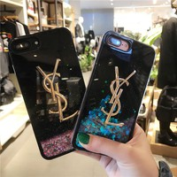 YSL Liquid Sand Case for iPhone 7 8 Plus