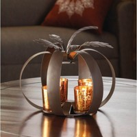Modern Pumpkin Tealight Candle Holder Fall Decor