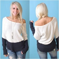 Illusion Thermal Top (Black / White) - Piace Boutique