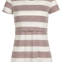 Wide Stripe Nursing Top