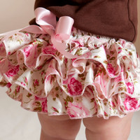 Flower Baby Ruffle Bloomer