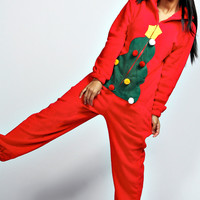 Holly Christmas Tree Onesuit