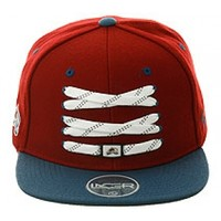 2Tone Skate Lacer Colorado Avalanche Snapback Hat by Zephyr - Maroon, Light Blue   Hat Club
