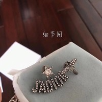 DCCK Dior white diamond letter bee combination ear stud 110