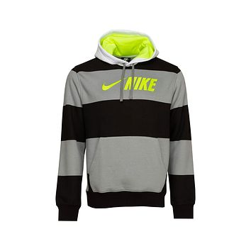 Nike Men's Sportswear Air Max 90 Black And Volt Club Fleece Hoodie