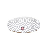 Shop Majestic Pets Grey/White Polyester Round Dog Bed at Lowes.com