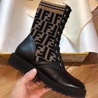 FENDI Socks type high heel shoes Boots