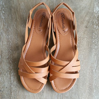 A Boho Sandal in Tan