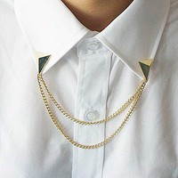 GOLD COLLAR BROOCH from brave store