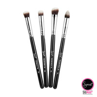 Synthetic Precision Kit 4 Brushes - Chrome