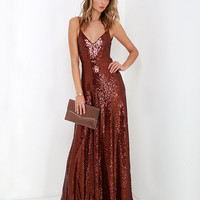 Sequin Strappy Maxi Dress