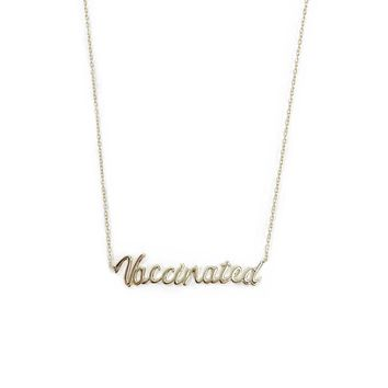 Vaccinated Gold Necklace