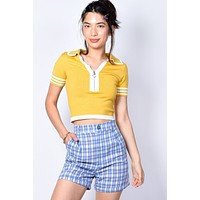 Plaid About You Cuffed Shorts