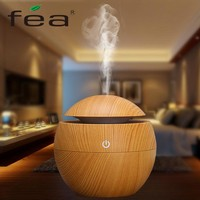FEA 130ML wood Aromatherapy Essential Oil Aroma Diffuser LED Ultrasonic Cool Mist maker  Air usb mini Humidifier air purifier