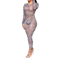 Hollow Out Geometric Jumpsuits & Rompers For Women