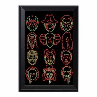 Horror Heads Decorative Wall Plaque Key Holder Hanger