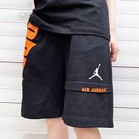 Jordan New fashion letter people print shorts Black
