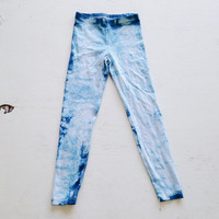 Tie Dye Yoga Leggings Shibori Dyed American Apparel Leggings