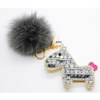 LUCKY HORSE CHARM WITH CRYSTALS
