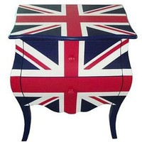 union jack two drawers bedside table by foxbat boutique | notonthehighstreet.com